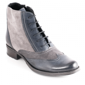 Ankle boots 12301.R Black/ Dark grey/Grey velour